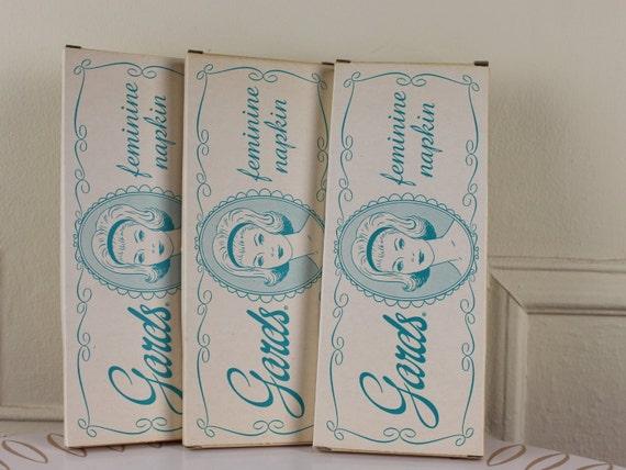 1950s Sanitary Pads Gards Feminine Napkins Vintage Maxi