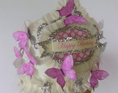 Butterfly Birthday Hat, Butterfly Birthday Crown, pink butterflies, girl Birthday hat, customize