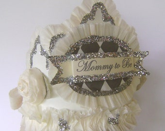 Baby Shower  Crown, baby shower Hat, Mommy to Be crown,  customize