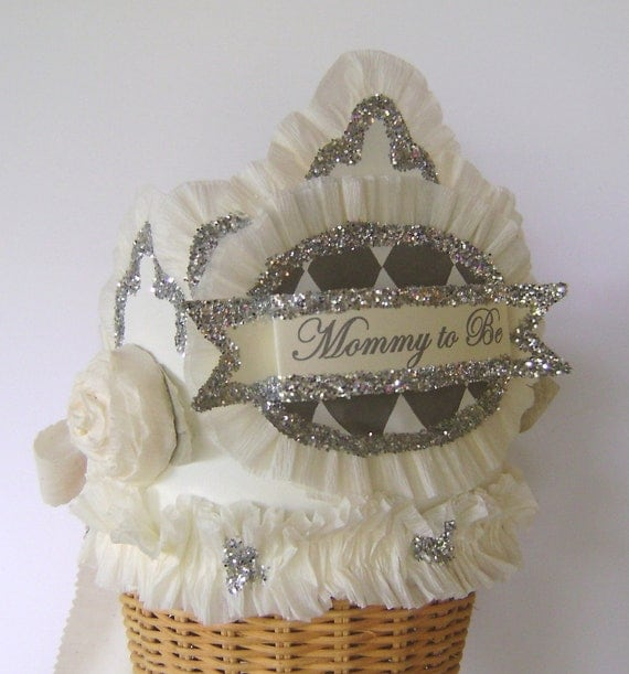 baby shower crown baby shower hat mommy to be crown customize