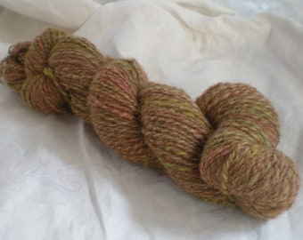 Handspun Alpaca Wool Yarn light worsted weight Garden Path 185 yds.