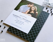 SAVE THE DATE - Romantic Black and White Photo Save the Date Cards by Sincerely, Jackie