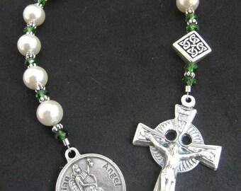 Irish Baby Baptism Pearl Guardian Angel Chaplet