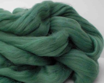 """Ashland Bay Solid Colored Merino for Spinning or Felting  """"Dusty Green""""  4 oz."""