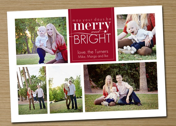 items similar to photo christmas card  holiday card