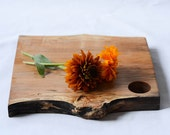 Organic Original, Natural Edge Salvaged Wood Serving Board 672, Ready to Ship