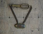 SALE vintage tie clip with agate / CAMPUS