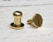 5sets 5mm HEAD, see more details in 2nd image mini Button Studs Stand Leather Screwback for DIY Craft / HIGH Quality