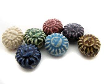 10 Tiny Mixed Sun Beads
