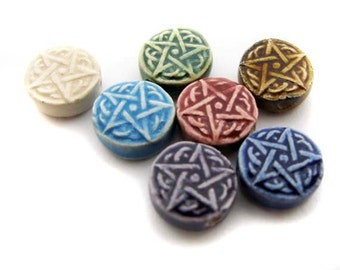 10 Tiny Mixed Pentagram Beads