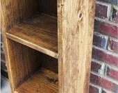 Primitive Bookcase Storage Tower  Office Nursery 35'' x 10'' x 7 1/2''