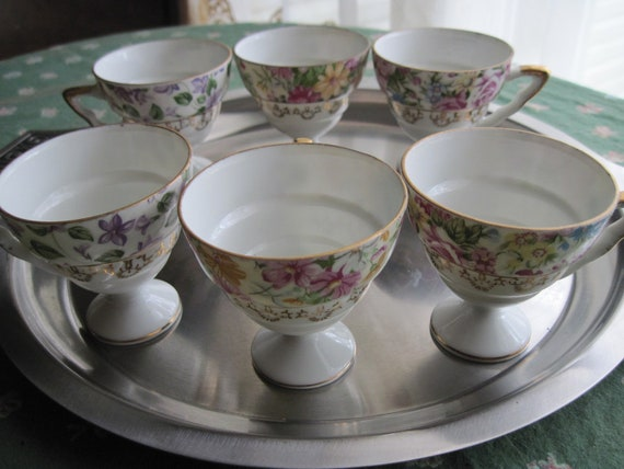 Chintz China Cups , teacups / demitasse