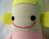 Spirited Sophia - Handmade Doll in Pink Stripes