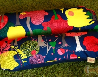 Trees Bright & Blue Psychedelic - Bunbed Dog bed for Dachshunds, Dachshund Bed, Dog Burrow Bed, Small Dog Bed