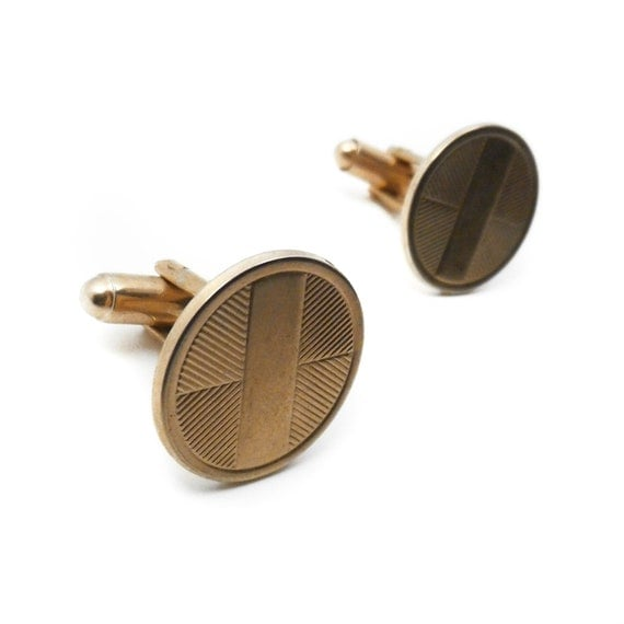 Deco Disc Cufflinks (vintage)