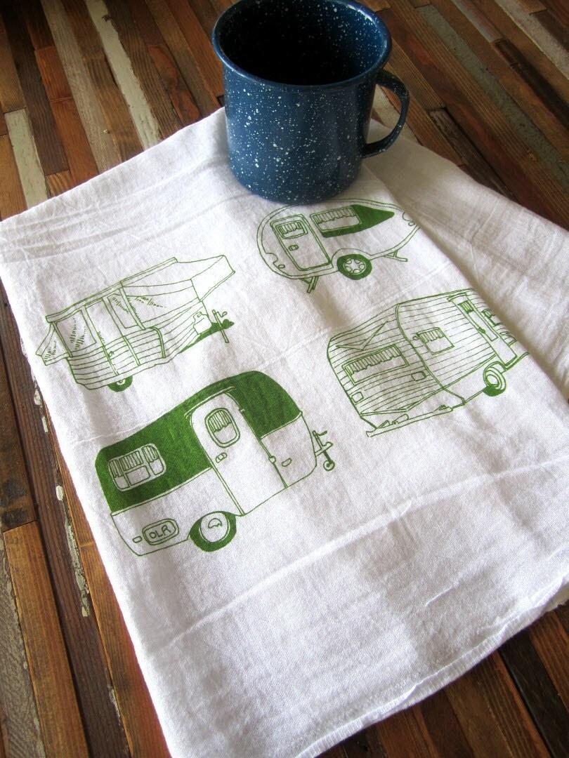 Tea Towel Screen Printed Flour Sack Towel Absorbent