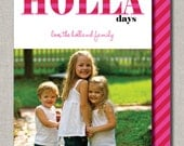 Photo Holiday Card - Set of 24 - Happy Holla Day by Abigail Christine Design