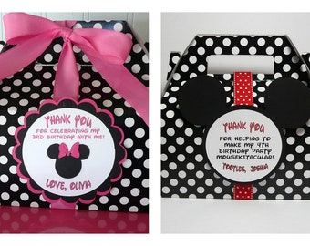 Minnie and Mickey Favor Boxes - set of 10