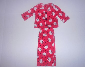 Red Hello Kitty 2 piece pajamas