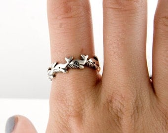 Whales Sterling Silver Ring
