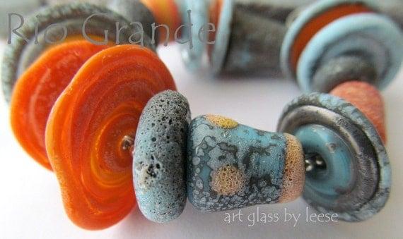 17 Rustic  Rio grande  Glass by Leese