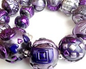 Very large dramatic Purple textured necklace