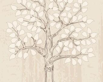 Guest book ideas, wedding tree, guestbook alternative, rustic wedding guest book poster, guest book print, love bird wedding, guest book art