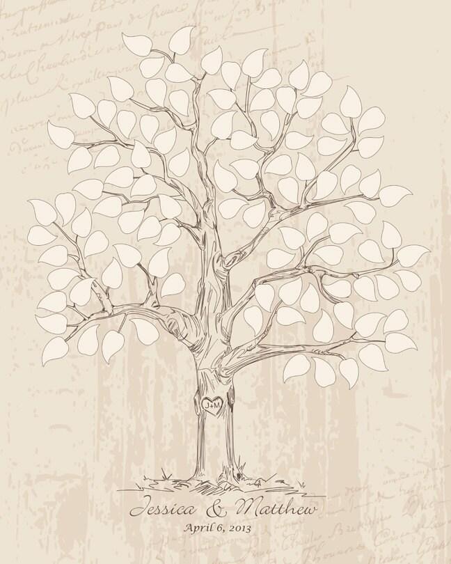Guest Book Printing: Guest Book Ideas Wedding Tree Guestbook Alternative Rustic