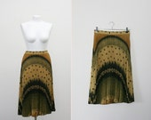 Magical Sunset  vintage accordion pleated skirt (S/M)