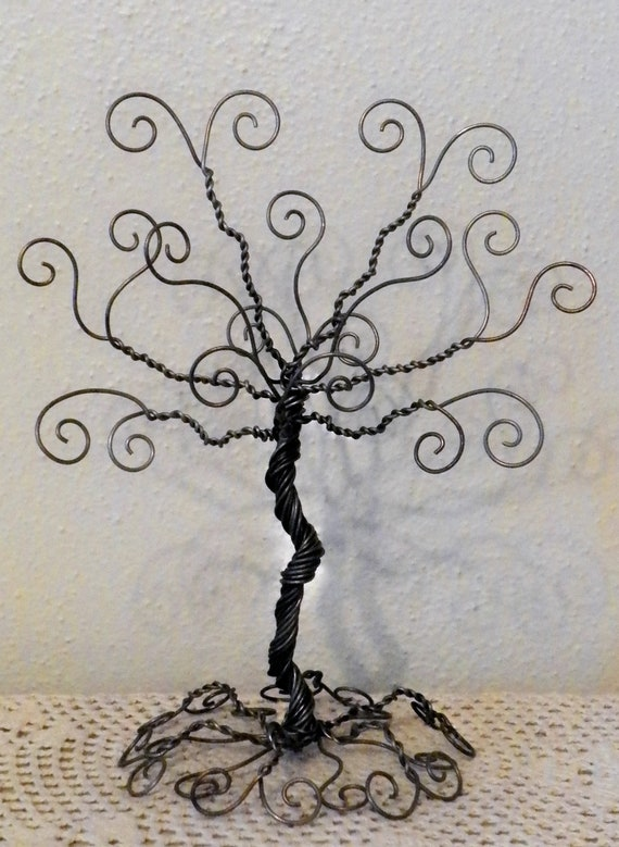 Jewelry tree wire stand earring hanger jewelry organizer