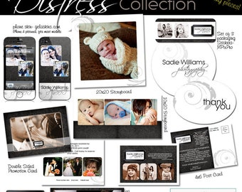 ADD-ON Distress Marketing Collection- templates for photographers- 9 more pieces to our Distress Marketing Collection