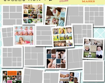 INSTANT DOWNLOAD - 12x12 Storyboard COLLECTION 2- 20 Custom Photo Templates for Photographers