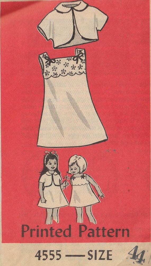 Vintage Pattern 1966 Girls Sleeveless Dress and Anne Adams Mail Order