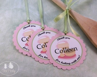 Baking Party Custom Favor Tags - Bake Shoppe Collection