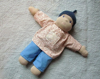 Instant PDF File Waldorf doll tutorial EASY pattern and tutorial for shirt and pants for a Waldorf doll