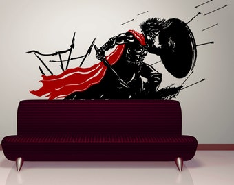 Vinyl Wall Decal Sticker Spartan in Battle GFoster178s