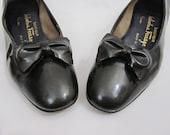 1960s Dress Shoes by Salvatore Ferragamo - Designer Patent Leather Ballet Flats - 7 B