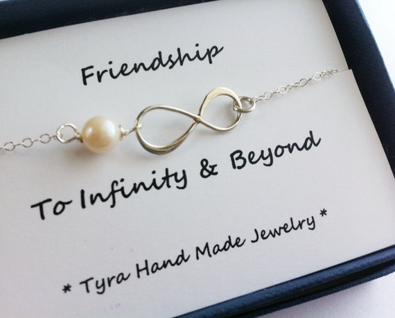 Good Wedding Gifts For Friends: Items Similar To Friendship Infinity With Message Card