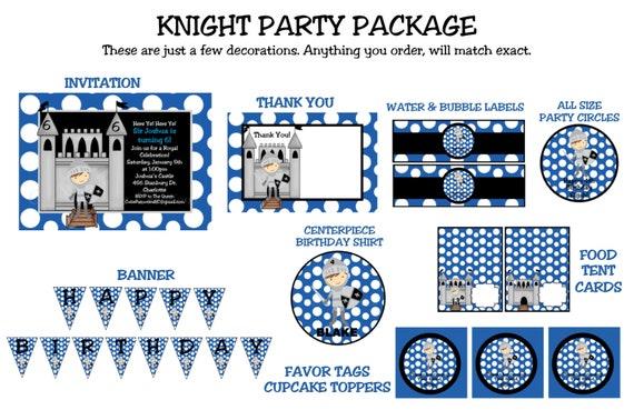 Knight Birthday Invitation Printable or Printed 1st – Knight Birthday Party Invitations