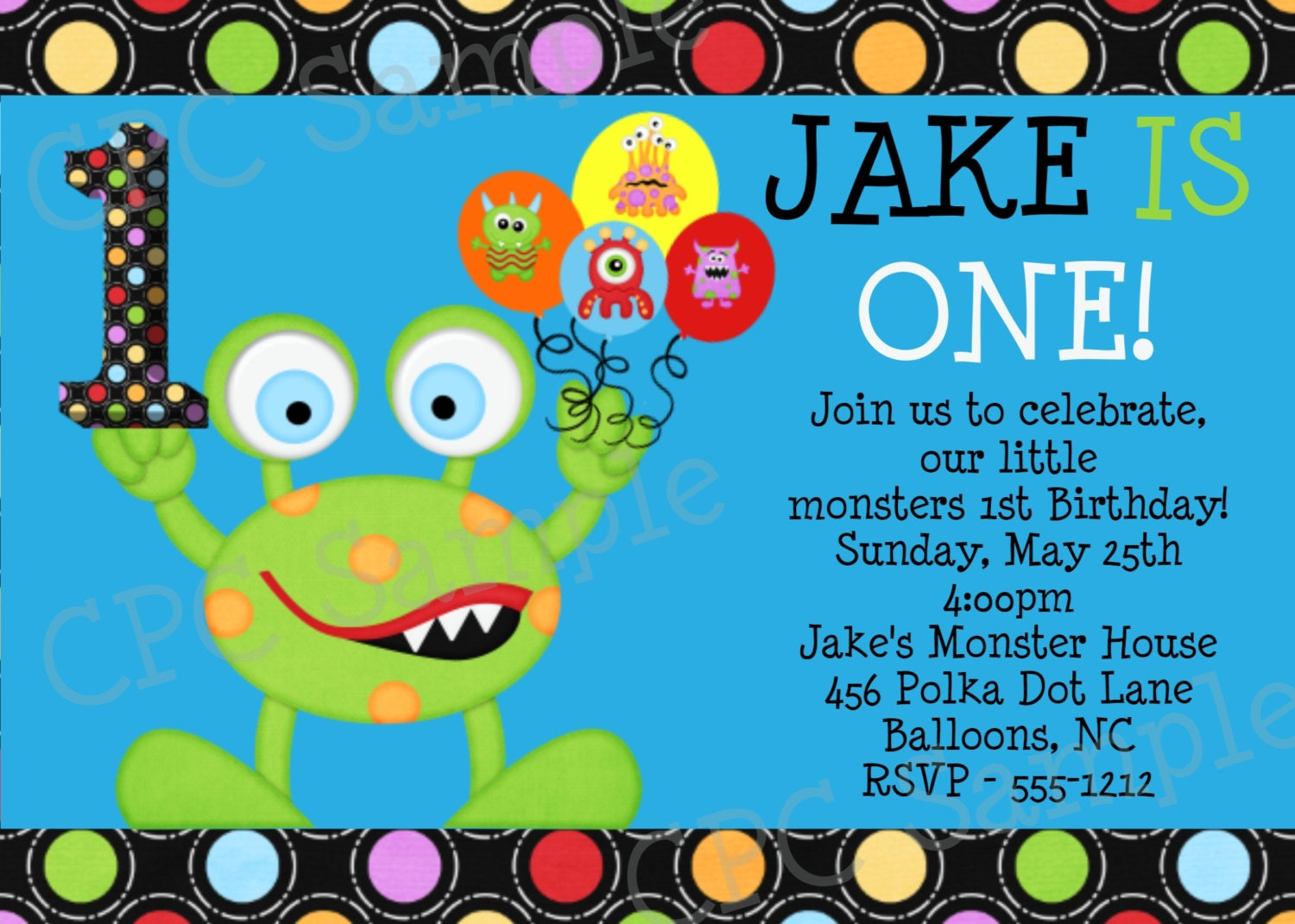 Monster Birthday Invitation Little Monster 1st Birthday – Monster Party Invites