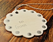 holiday gift tags hanukkah gift tags silver white gift tags wooden gift tags