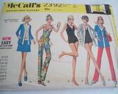 McCalls 2392 vintage 60s skirt pants jacket swim suit pattern size 6