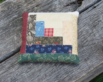 Sawdust  Pillow Farmhouse  Pillow Log Cabin Quilted Pillow Sawdust Pin Keep