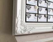 Large FRAMED Chalkboard Wedding Menu Escort Card Holder Seating Chart Chalk Board White Shabby Chic Magnetic Large - MORE COLORS