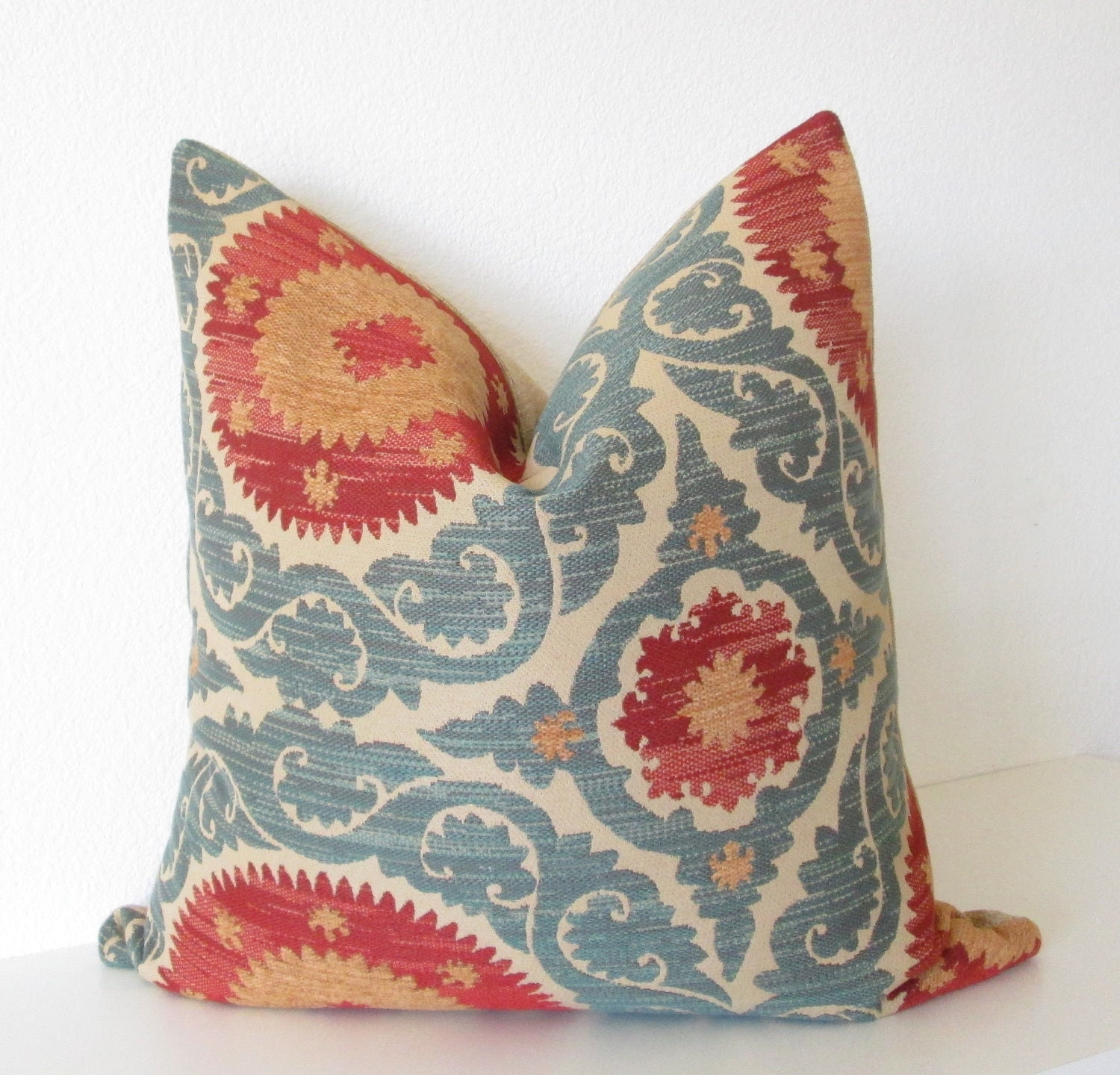 Throw Pillow Etsy : Decorative pillow cover Throw pillow Suzani pillow 20x20