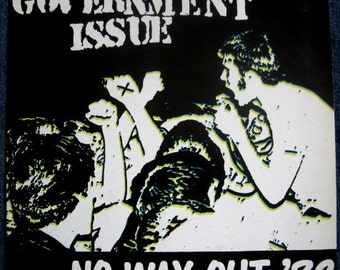 GOVERNMENT ISSUE Govt Issue No Way Out 82 Lp Original Vinyl Record Album Green Colored Vinyl MINT
