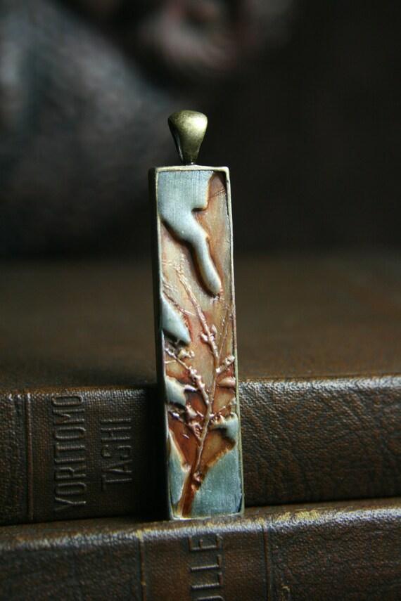 simply oak - orange oak leaf stick pendant - simple truths - MADE TO ORDER