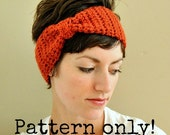 PDF Pattern Crochet Instructions for Faux Bow Headwrap with Permission to Sell What You Make