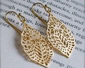 Drop Earrings-India-Gold Paisley Earrings-Chandelier-