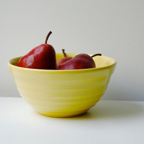 Vintage Bauer Mixing Bowl - Yellow Ringware